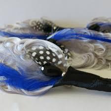 Royal Blue Boutonniere Shop Feather Boutonniere On Wanelo