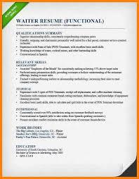 professional waiter resume sample sample of waitress resume 16