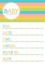 free baby invitation template free baby shower invitation