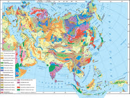 Southeast Asia Physical Map by Eurasia Physical Map Decades Old Continental Glaciation