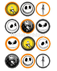 nightmare before christmas cupcake toppers skellington nightmare before christmas digital 2 inch 1