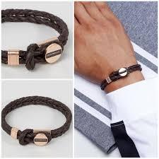 leather armani bracelet images Emporio armani 2018 19aw unisex street style plain leather jpg