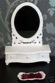 french style dressing table mirror drawers finished white