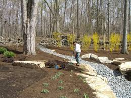 backyard drainage swale outdoor furniture design and ideas