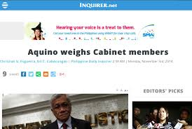 Cabinet President President Aquino To Fire Overweight Cabinet Members