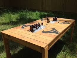Cooler Patio Table Patio Table With Built In Cooler For Sale Busca Dores