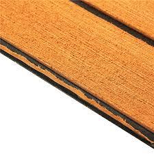 240cmx90cmx5mm gold with black lines marine flooring faux teak eva
