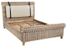 Wicker Rattan Bedroom Furniture by Washed Rattan Bed Beds