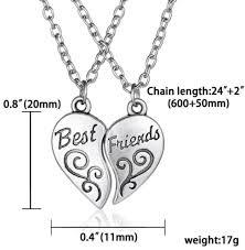best friend heart necklace images Grandeur best friends heart necklace set grandeur essentialz png