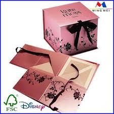 printed gift boxes custom flat pack printed gift box with ribbon bow custom folding