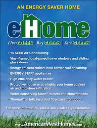 High Efficiency Homes by Energy Efficiency American West Homes