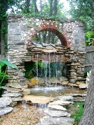 wall ideas image of large backyard water fountains large outdoor
