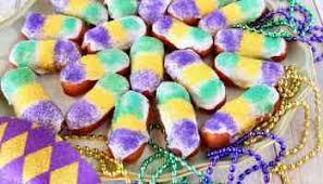 mardi gras candy beignets for mardi gras