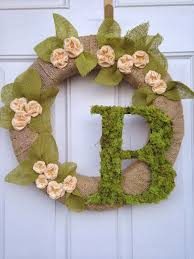 spring wreaths for front door another crafty day felt blossom spring wreath with moss letter