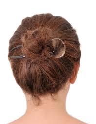 hair fork 2 prongs light shade buffalo horn hair fork marycrafts