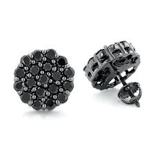 black diamond earrings mens black and gold diamond earrings mens white gold black diamond