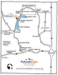 Colorado Highway Map colorado cabin adventures