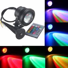 led waterproof ip68 10w rgb flood light pool pond