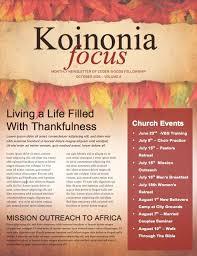 outreach church newsletter template newsletter templates