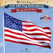 States Flags Us Flag 4x6 Foot Embroidered Stars U0026 Sewn Stripes Usa Flag Co