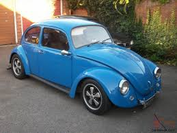 volkswagen old beetle modified vw beetle bug 1776 twin carbs porsche arrows blue old