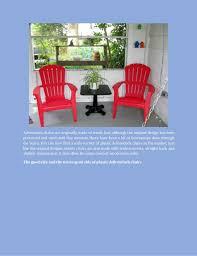 Used Adirondack Chairs Plastic Adirondack Chairs Latest Trend In Patio Furniture