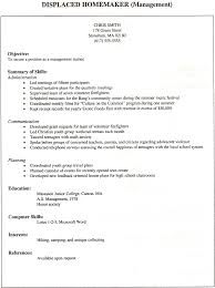 Firefighter Job Description Resume by Homemaker Job Description On Resume Free Resume Example And