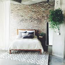 Great Exposed Brick Loft W Westelms MidCentury Bed Marquis - West elm mid century bedroom furniture