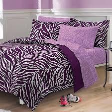Pink Zebra Comforter Set Full My Room Zebra Complete Bed In A Bag Bedding Set Purple Walmart Com