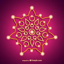 india diwali ornament vector free
