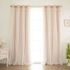 Thermal Energy Curtains Layla Lace Overlay Thermal Blackout Energy Efficient Grommet