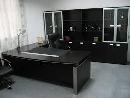 Black Office Desk Furniture Design Office Table Curve Shape Corner Office Table Black Wooden