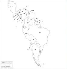 Blank Latin America Map by Map Quiz Of South America Cities South America Capitals Quiz