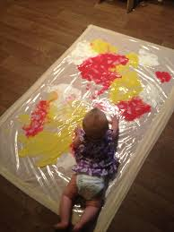 i created this no mess painting for my infant and toddler