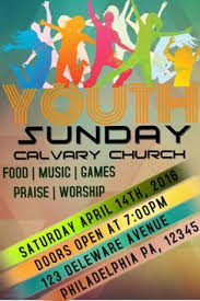 youth sunday event flyer click on the image to customize on