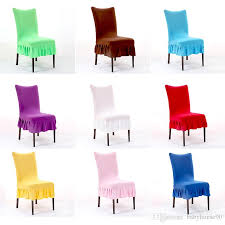 chair seat cover thicker elasticity chair covers solid color half chairs seat cover