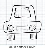 simple drawing of a modern sports car auto sketch vector