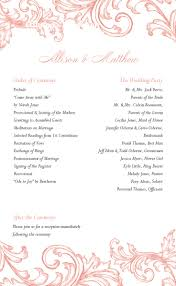 downloadable wedding program templates free printable wedding program templates tristarhomecareinc