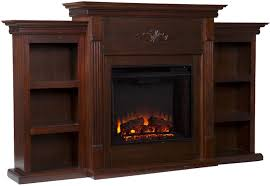 70 u2033 electric fireplace heater tv stand bookcase shelves remote