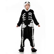 Jack Halloween Costume Aliexpress Buy Skeleton Jumpsuits Unisex Flannel