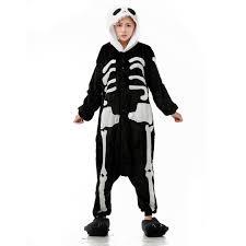Jack Skellington Halloween Costume Aliexpress Buy Skeleton Jumpsuits Unisex Flannel