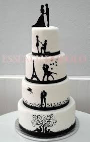 marriage cake best 25 silhouette wedding cake ideas on silhouette