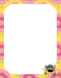 printable animal lined paper spring cute animal writing paper http www kidscanhavefun com