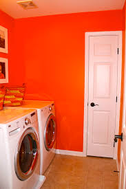 Orange Walls Mae U0027s Laundry Room Bring Mae Flowers