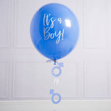 gender reveal balloons personalised gender reveal balloon by bubblegum balloons