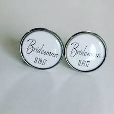 personalized wedding cufflinks bridesman of honor gift team wedding party gift
