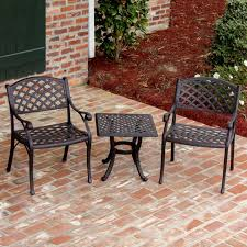 3 Piece Patio Dining Set - cast aluminum patio dining set with rectangular table ultimate