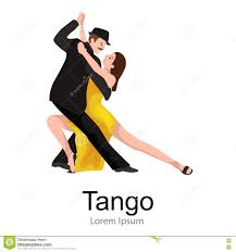 a couple dancing tango cartoon clipart vector toons couple dances a tango cartoon vector cartoondealer com 78249871