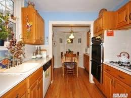 galley kitchen in classic colonial