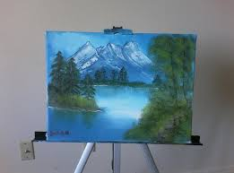 a 10 year old girl attempt at bob ross s the joy of painting